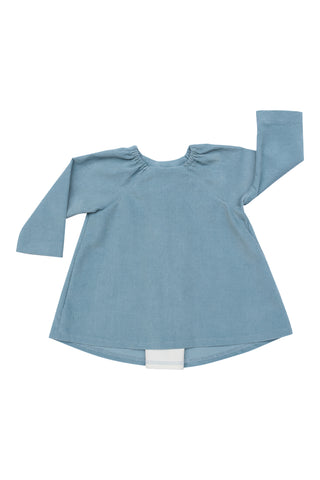 Pleated Swing Tunic in Rain Corduroy