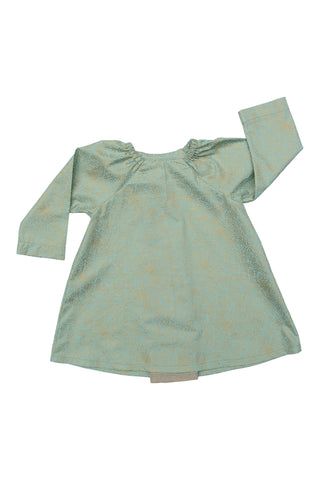 Pleated Swing Tunic in Wintermint
