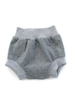 Bloomer Short in Dotted Chambray