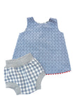Bloomer Short in Ocean Gingham