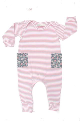 Everyday Romper in Rose Stripe
