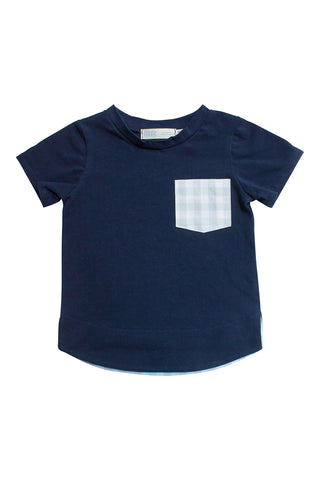 Classic Pocket Tee in Vintage Gingham