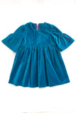 Party Dress in Aquamarine Velveteen