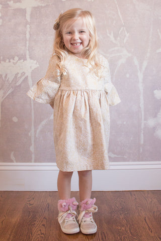 Party Dress in Champagne Dots