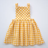Pinafore Dress in Sunshine Gingham
