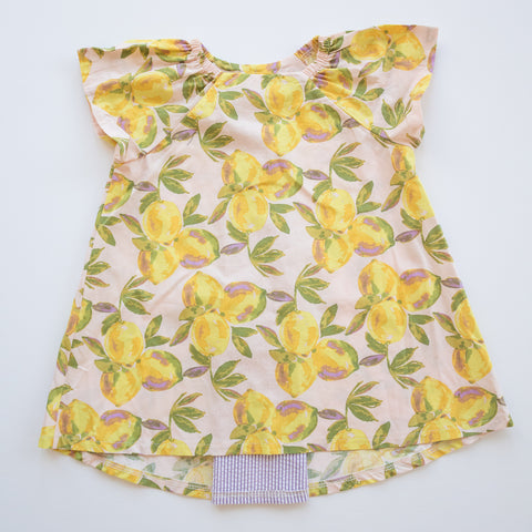 Pleated Swing Tunic in Lemonade Stand