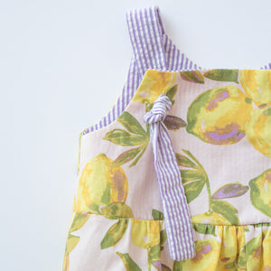 Knotted Romper in Lemonade Stand
