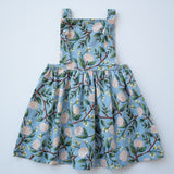 Pinafore Dress in Dusk Garden Party
