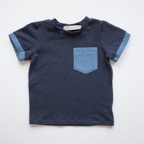 Pocket Tee in Skipper