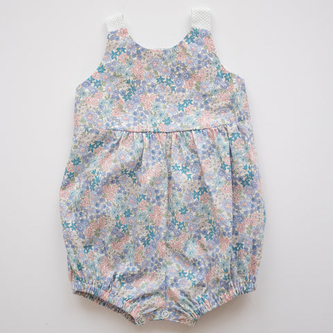 Knotted Romper in Flower Girl