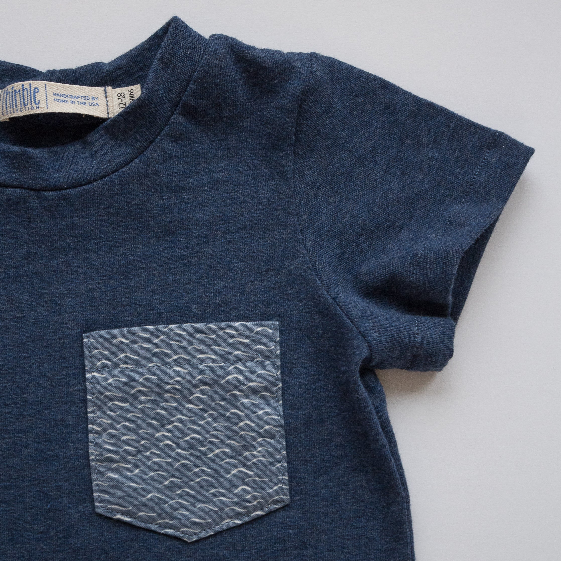 Pocket Tee in Tide Watching
