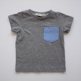 Pocket Tee in Summer Storm