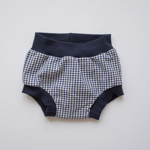 Bloomer Short in Navy Gingham