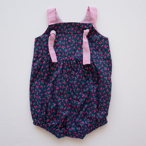 Knotted Romper in Cherry Picking