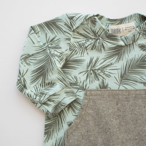Zipper Romper in Fern