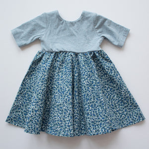 Twirl Dress in Blueberry