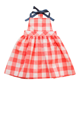 Lucy T-Back Dress in Coral Gingham - Thimble - Dress - 1