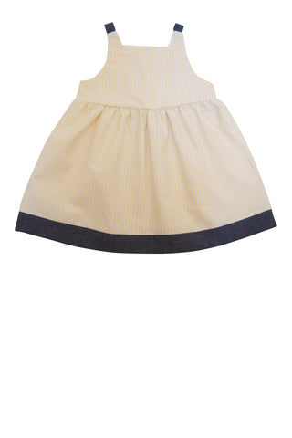 Isabel Playtime Dress in Yellow Oxford Stripe - Thimble - Dress - 1