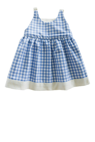 Reversible Isabel Playtime Dress in Yellow and Blue - Thimble - Dress - 1