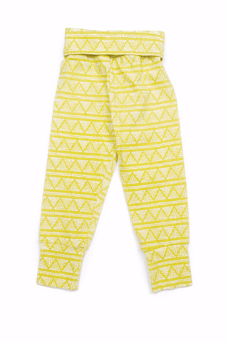 Charley Everyday Legging in Citron Triangles - Thimble - Pants - 1