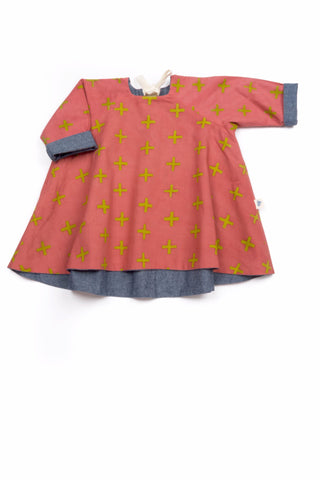 Sophie Reversible Swing Tunic in Rose and Chambray - Thimble - Dress - 1