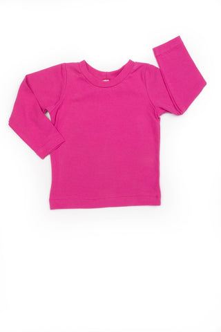 Avery Everyday Tee in Fuchsia Pink - Thimble - Shirt - 1