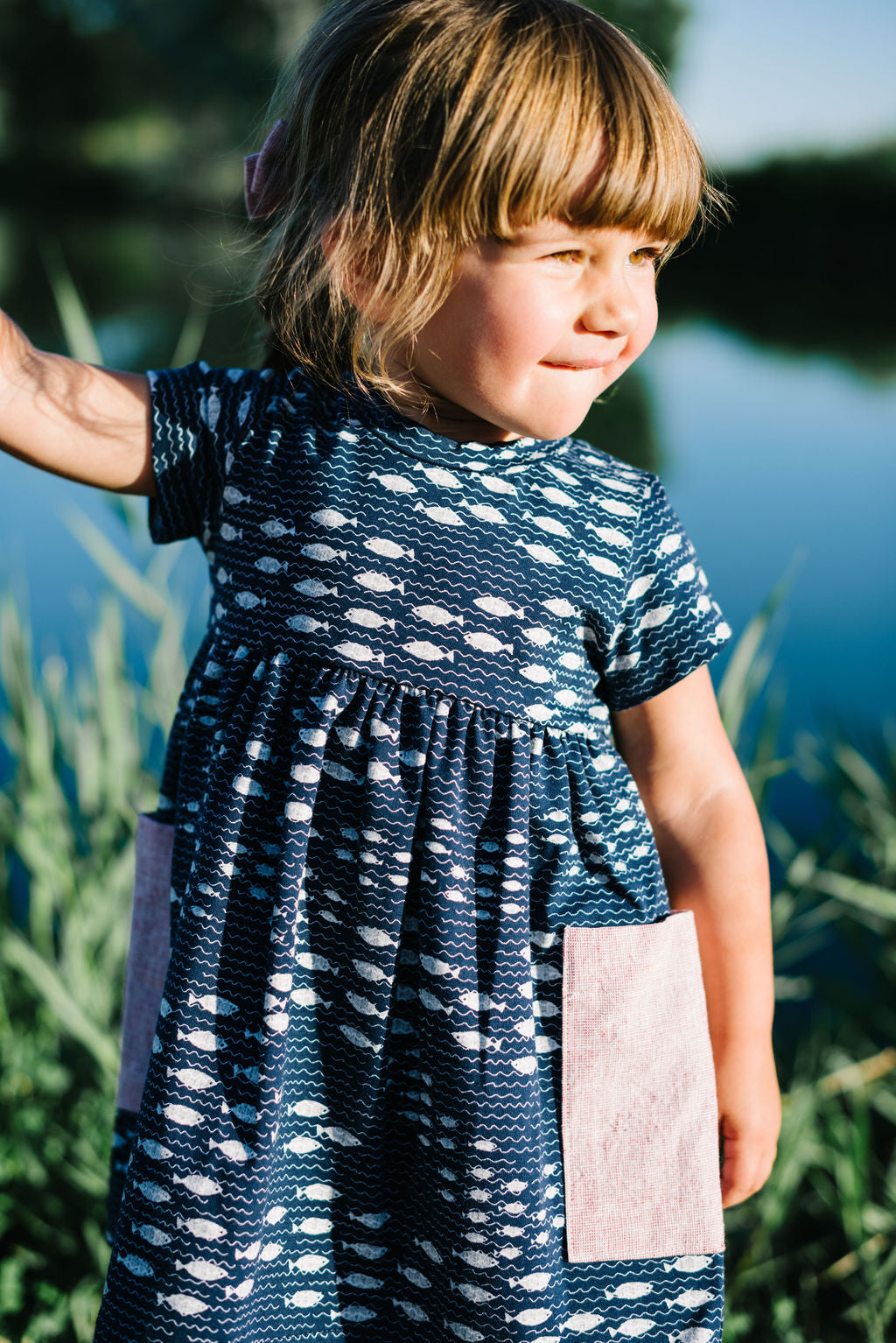 Playground Dress in Fishing Trip