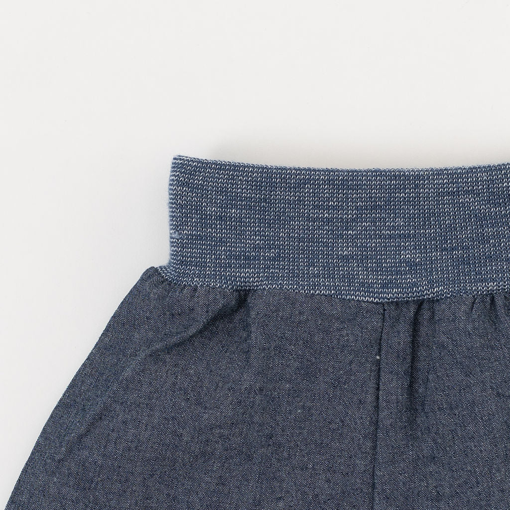 Easy Short in Dark Chambray