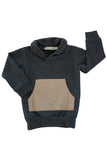 Shawl Collar Sweatshirt in Charcoal