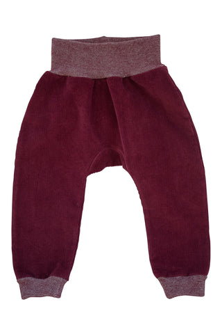 Jogger Pant in Beet Corduroy
