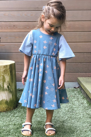 Twirl Dress in Mist