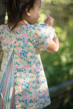 Pleated Swing Tunic in Summer Wildflowers