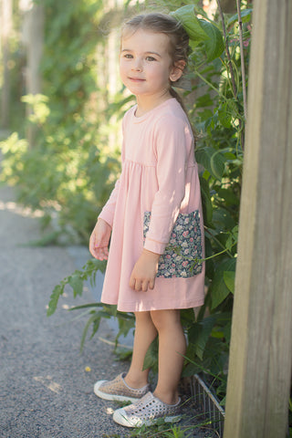Everyday Dress in Garden Rose