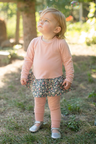Peplum Tunic in Garden Rose