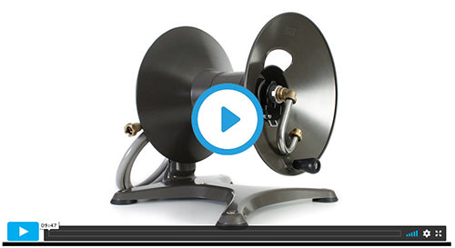 1042X free standing garden hose reel assembly video image=