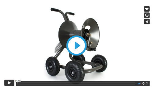 1043QX four wheel wagon garden hose reel with extra capacity kit assembly video image=
