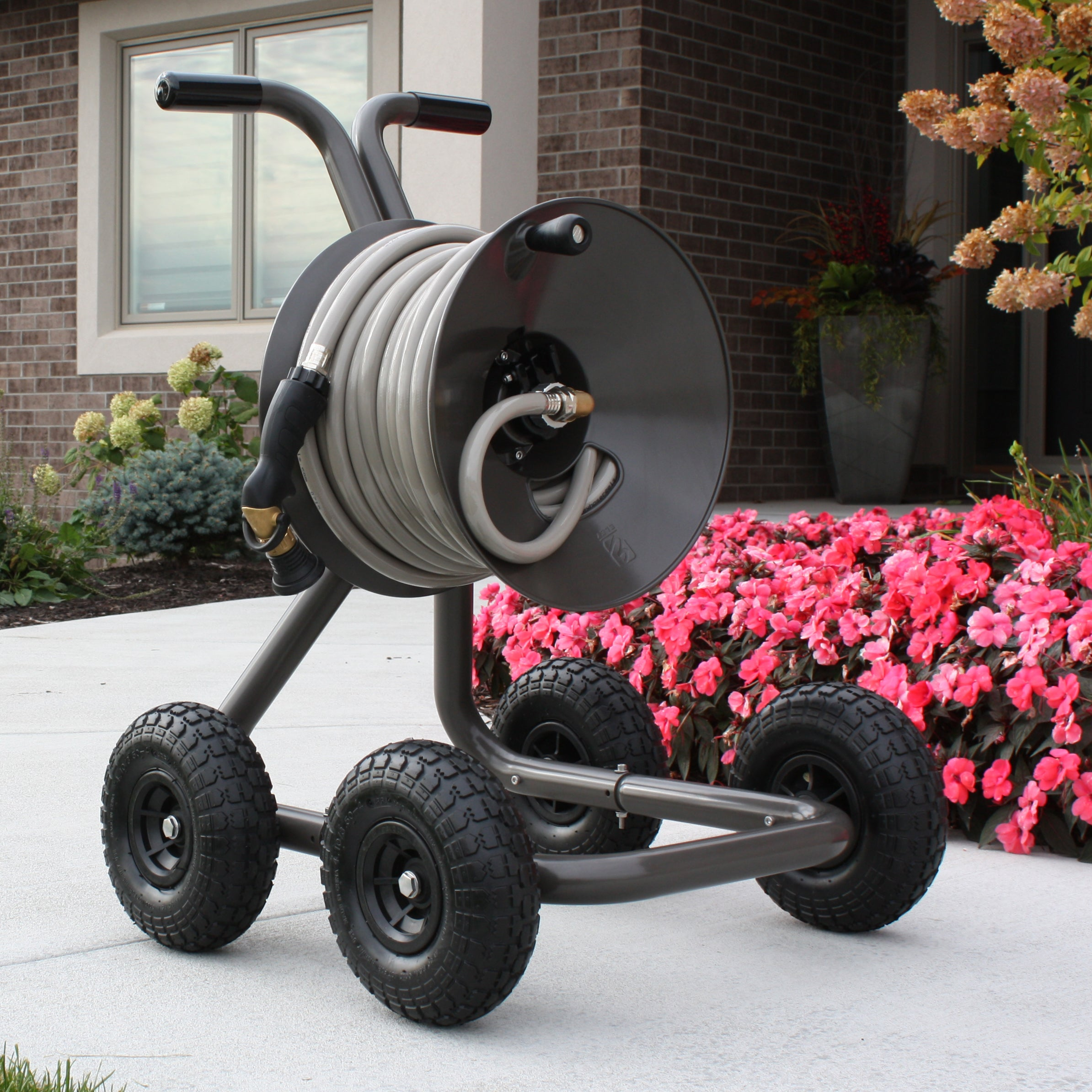 eley model 1043Q 4-wheel garden hose reel wagon
