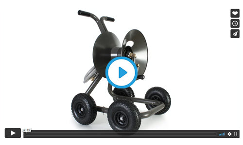 1043Q four wheel wagon garden hose reel assembly video image=