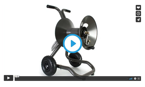 1043X two wheel cart garden hose reel with extra capacity kit assembly video image=