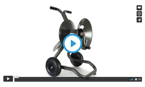 1043 two wheel cart garden hose reel assembly video image=