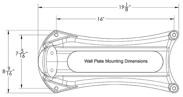 eley model 1041 wall plate and mounting holes dimensions