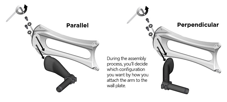 eley parallel vs perpendicular arm attachment