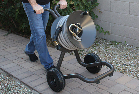 model 1043 eley 2-wheel garden hose reel cart walking