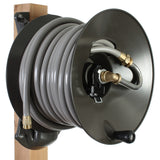 Wood Post Mount Garden Hose Reels