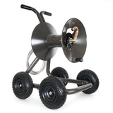 Eley 4-wheel wagon portable garden hose reel model 1043QX equipped with Item 1044 Extra-Capacity Kit, diametric view