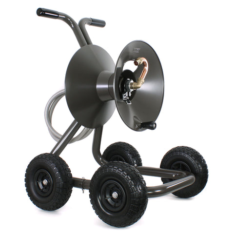 Eley model 1043Q portable 4-wheel garden hose reel wagon