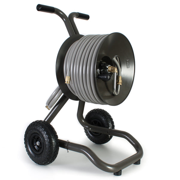 portable garden hose reel cart with wheels eley hose reels