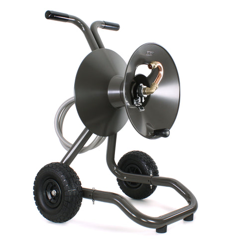 Eley model 1043 portable 2-wheel garden hose reel cart