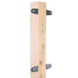 Eley Wood Post Mount Kit for 1041 and 1041X wall mount reels. Brackets are powder-coated (wood post not included).