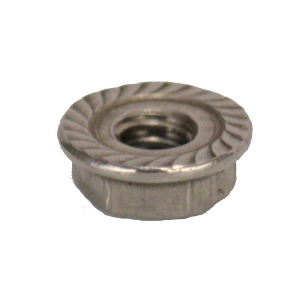 Eley 20 Stainless Steel Serrated Flange Lock Nut 1/4-inch